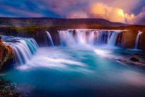 Wasserfall in Island.