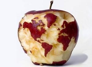 Die Welt in einem Apfel